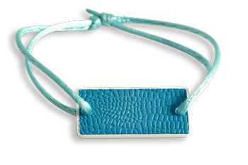 Bracelet blue leather