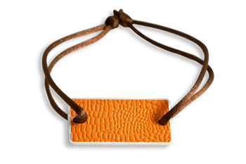 Bracelet orange leather
