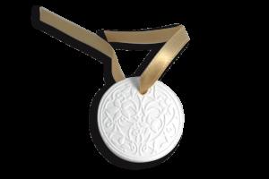 Bijou de sac en relief fin Bulgari avec ruban doré