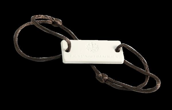 Black leather bracelet backside